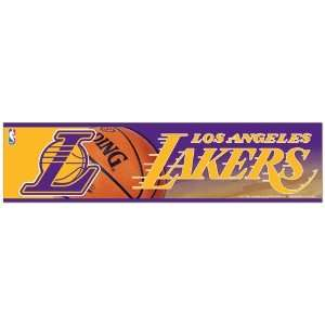 NBA Basketball Los Angeles Lakers Bumper Sticker (2 Pack