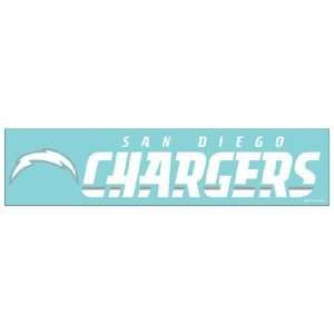 NFL San Diego Chargers 4x16 Die Cut Decal  Sports