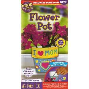 FLOWER POT KIT (I LOVE MOM) DECORATE YOUR OWN Toys