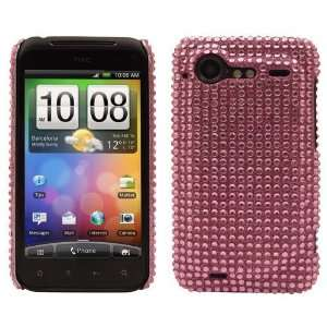 Modern Tech Pink Diamante Gem Snap On Case for HTC