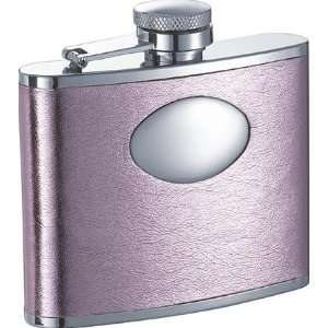 New   Sweetheart Soft Pink Synthetic Leather 4oz Flask