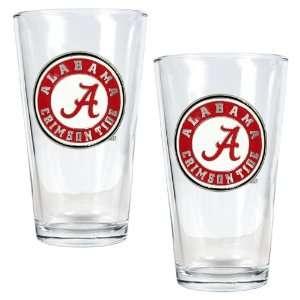Of Alabama Crimson Tide 2pc Pint Ale Glass Set