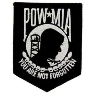 POW MIA Patch Black & White 3 1/2