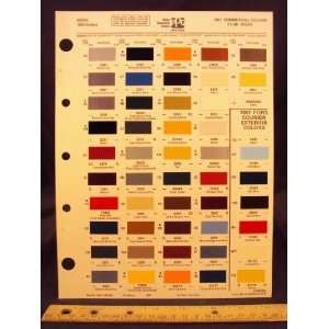 Courier & Commercial Paint Colors Chip Page Ford Motor Company Books