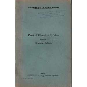 Physical Education Syllabus Book II Elementary Schools