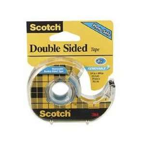 Double sided Removable Tape, 3/4x400, 12 Rolls/BX, Clear