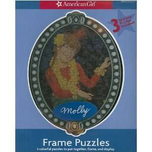 American Girl Frame Puzzles   Set of Three   Molly Toys