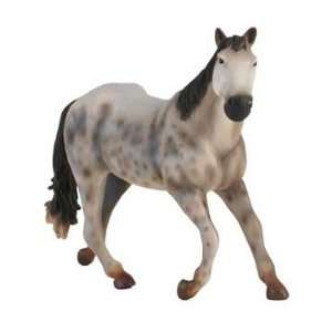 X Large Quarter Horse Mare Dapple Grey Figure Toys