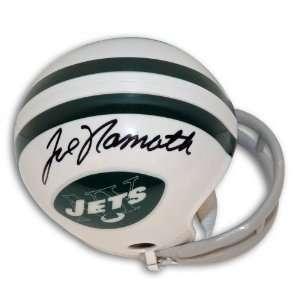 Joe Namath Autographed/Hand Signed New York Jets Throwback Mini Helmet