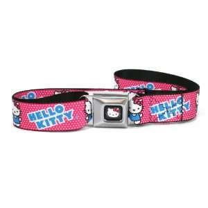 Hello Kitty Micro Dots Fuchsia/white Seatbelt Belt Buckle
