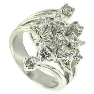 White CZ Star Ring Jewelry