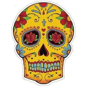 Day of the Dead Decal Rockabilly Rock Vintage Sugar Skull