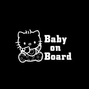 Hello Kitty Baby on Board # 2 Car Window Decal Sticker