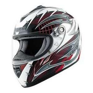 Shark RSX HOOK WH_RED LG* MOTORCYCLE Full Face Helmet
