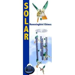 Birds Wind Chimes Color Changing Solar Light Patio, Lawn & Garden