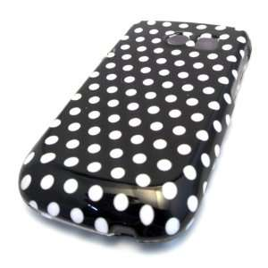 Samsung R375c Straight Talk Black Polka Dot Gloss CASE