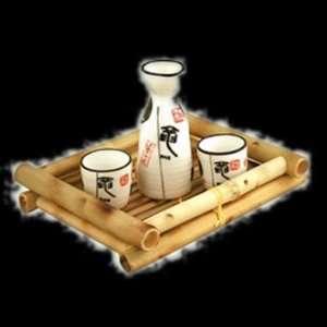 Powerful Kanji Three Piece Saki Set