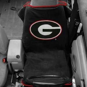 Georgia Bulldogs Black Towel Car Seat Cover Automotive