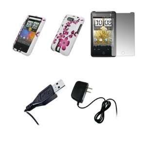 HTC Aria   Premium White and Pink Spring Flowers Design