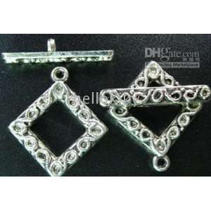 360sets tibetan silver ornate square toggle clasps a5017