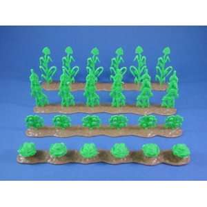 Marx Toy Soldiers Farm Playset Accessories Crop Rows Toys