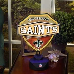 New Orleans Saints NFL Neon Shield Table Lamp