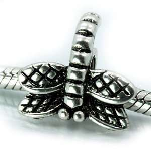 () Antiqued Silver  Dragonfly  Bead Charm