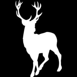 Deer vinyl window decal sticker