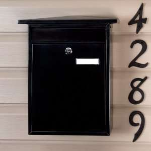 Home Locking Wall Mount Mailbox   Black Powder Coat Home