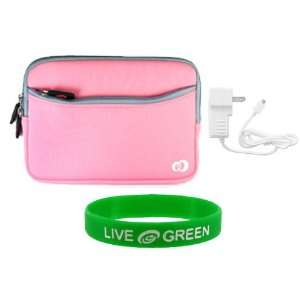 Pink Dual Pocket Neoprene Sleeve Case and Travel Wall