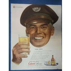 Calvert Reserve Whiskey Print Ad. Orinigal 1944 Vintage Magazine ad
