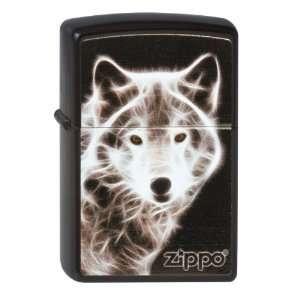 Zippo White Wolf Black Matte Lighter