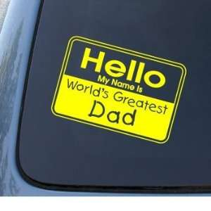 WORLDS GREATEST DAD   Vinyl Car Decal Sticker #1308  Vinyl Color
