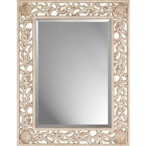 Paragon Whitewashed Coral Casual Wall Mirror 8821  Home
