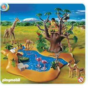 Playmobil 4827 African Wild Life Set Wild Life Waterhole Toys & Games