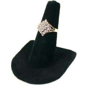 Black Velvet Ring Finger Jewelry Holder Showcase Display