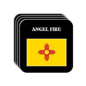 US State Flag   ANGEL FIRE, New Mexico (NM) Set of 4 Mini