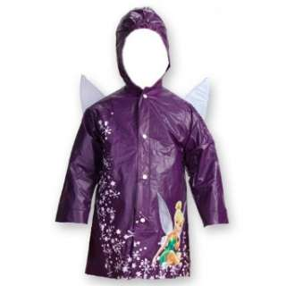 Disney Fairies Tinkerbell Purple Girls Rain Slicker Size