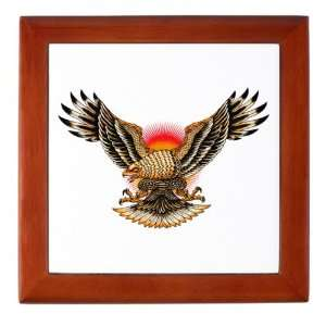 Keepsake Box Mahogany Tattoo Eagle Freedom On Sunset