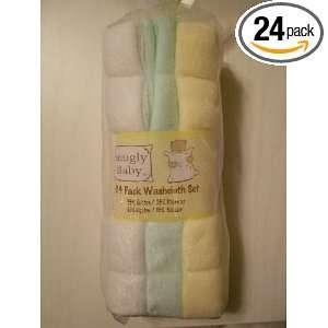 Infant Baby Boy Girl Unisex Yellow Green White Washcloth