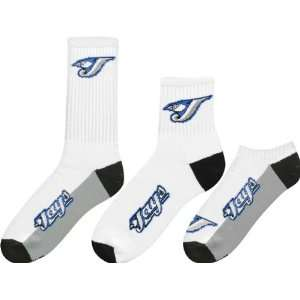 Toronto Blue Jays Mens 3 Pair Sock Pack Sports
