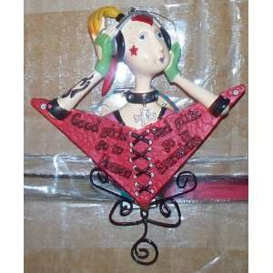 Yule Tidings Good Girl/Bad Girl Collectible Ornament NWT