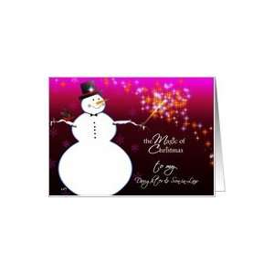 to my daughter and son in law the magic of christmas Card