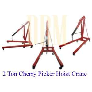 2 Ton Cherry Picker Engine Hoist Lift Crane 4,000 Lbs