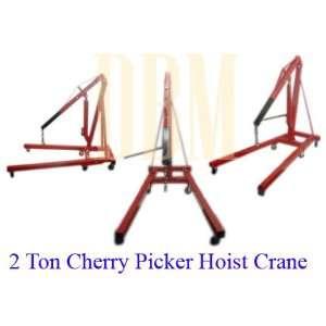 2 Ton Cherry Picker Engine Hoist Lift Crane 4,000 Lbs