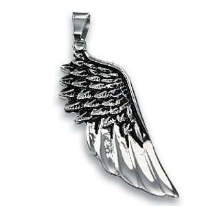 316L Stainless Steel Pendant   Angel Wing Jewelry