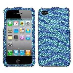 Diamond Bling for Apple iPhone 4 Sprint,Verizon Wireless   B Blue/Dr