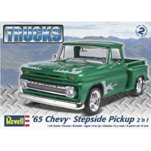 25 65 Chevy Stepside Pickup 2N1 (Plastic Model Vehicle) Toys & Games