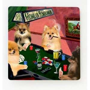 4 Dogs Playing Poker Pomeranian Magnet: Home & Kitchen