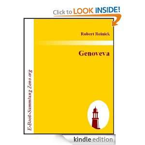 Genoveva  Oper in vier Akten (German Edition) Robert Reinick